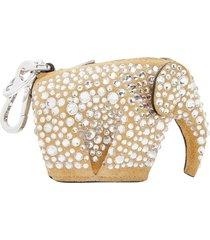 crystal elephant keychain charm