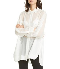 women's rag & bone florian sheer tunic shirt