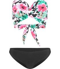 bikini a balconcino con ferretto (set 2 pezzi) (nero) - bodyflirt
