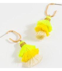 alma tiered tassel earrings - yellow