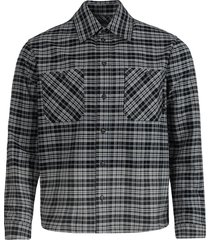 check print allover degrade flannel shirt