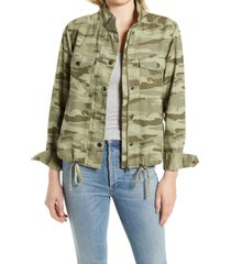 caslon(r) lightweight jacket, size x-small in green spring camo at nordstrom