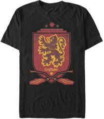 fifth sun harry potter men's gryffindor broomstick shield short sleeve t-shirt
