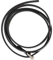 ann demeulemeester wrap-around belt style bracelet - black
