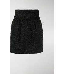 saint laurent textured mini skirt