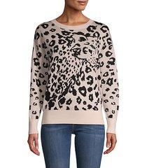 leopard-print merino wool sweater