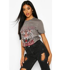 wild thing embellished slogan t-shirt, charcoal