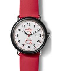 shinola detrola the radio flyer silicone strap watch, 43mm