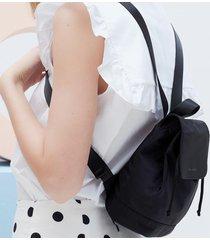 estella bartlett women's the mini copperfield drawstring backpack - black/nylon/black