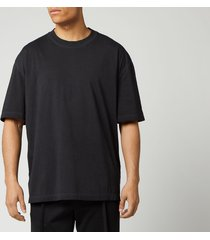 maison margiela men's resin garment dyed t-shirt - black - it 50/l