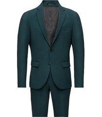 plain mens suit pak groen lindbergh