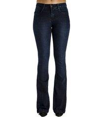 calça jeans básica flare calvin klein feminina