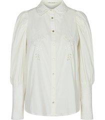 katoenen blouse met pofmouwen marie  wit