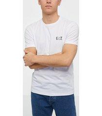 ea7 emporio armani train core id m tee pima co t-shirts & linnen white