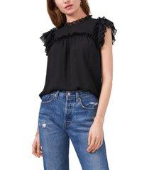 1.state women's sleeveless shirred yoke top