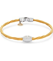 18k gold & diamond clasp rope bracelet