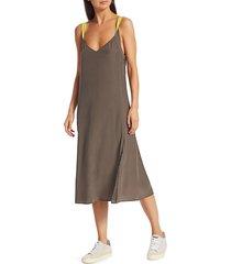 rag & bone women's colette silk slip dress - lime green - size xxs