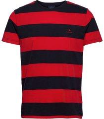 barstripe ss t-shirt t-shirts short-sleeved röd gant