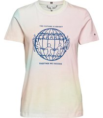 abo earth day regular tee t-shirts & tops short-sleeved multi/mönstrad tommy hilfiger