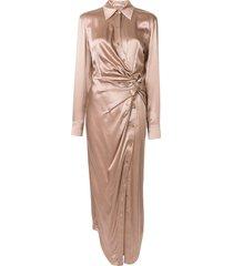 alexander wang twisted silk maxi dress - pink
