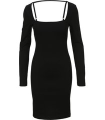 helmut lang square neck rib dress
