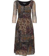 vest kerala jurk knielengte bruin desigual