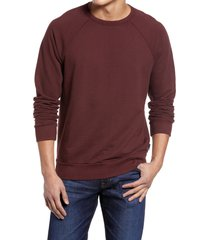 ag elba men's crewneck sweatshirt, size x-small in spiced rum at nordstrom
