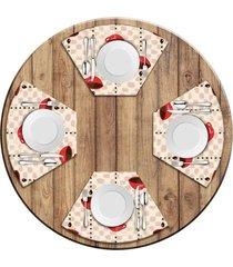 jogo americano love decor para mesa redonda wevans xícara de café kit com 4 pçs