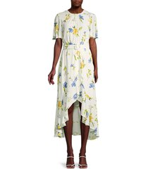 french connection women's emina belted high-low dress - summer wash - size 6