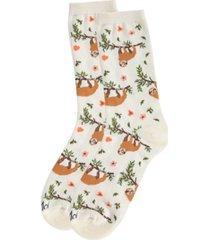 memoi sloth women's novelty socks