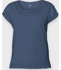 damska koszulka rolls (bez nadruku, gładka) - niebieska