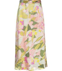 slfmola hw ankle skirt b knälång kjol multi/mönstrad selected femme