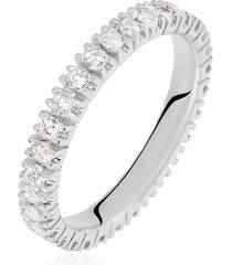 anello eternity in oro bianco e diamanti 0,90 ct per donna