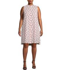 anne klein plus size charlseton printed shift dress