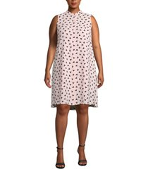 anne klein plus size charlseton printed shift dress