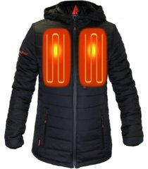 actionheat women's 5v battery heated puffer jacket with hood