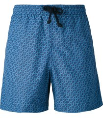 fashion clinic timeless chain print swim shorts - blue