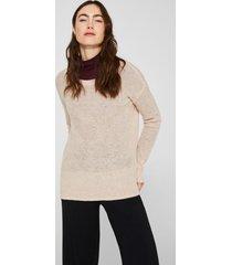 sweater con lana y alpaca rosa pálido esprit