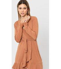 vestido marrón destino collection