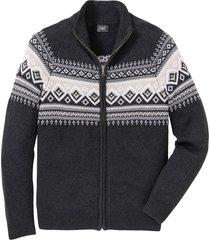 cardigan con motivi norvegesi (grigio) - bpc bonprix collection