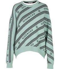 green logo chain sweater
