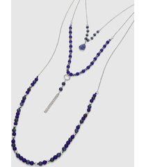 lane bryant women's convertible multi-layer beaded chain necklace onesz night sky