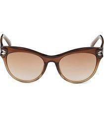 swarovski women's 51mm cat eye sunglasses - light brown