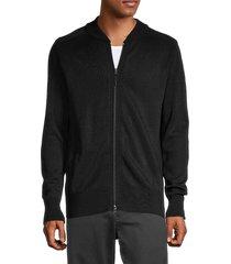 y-3 men's lined full-zip sweater - black - size l