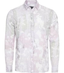 camisa masculina regular bosque - rosa
