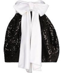 alexandre vauthier bow detail pouf-style dress - black