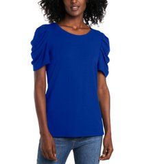 cece ruched-sleeve top