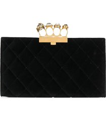 alexander mcqueen knuckle duster clutch bag - black