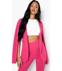 tall getailleerde blazer met cape detail, pink