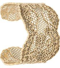 aurelie bidermann maxi cuff bracelet - gold